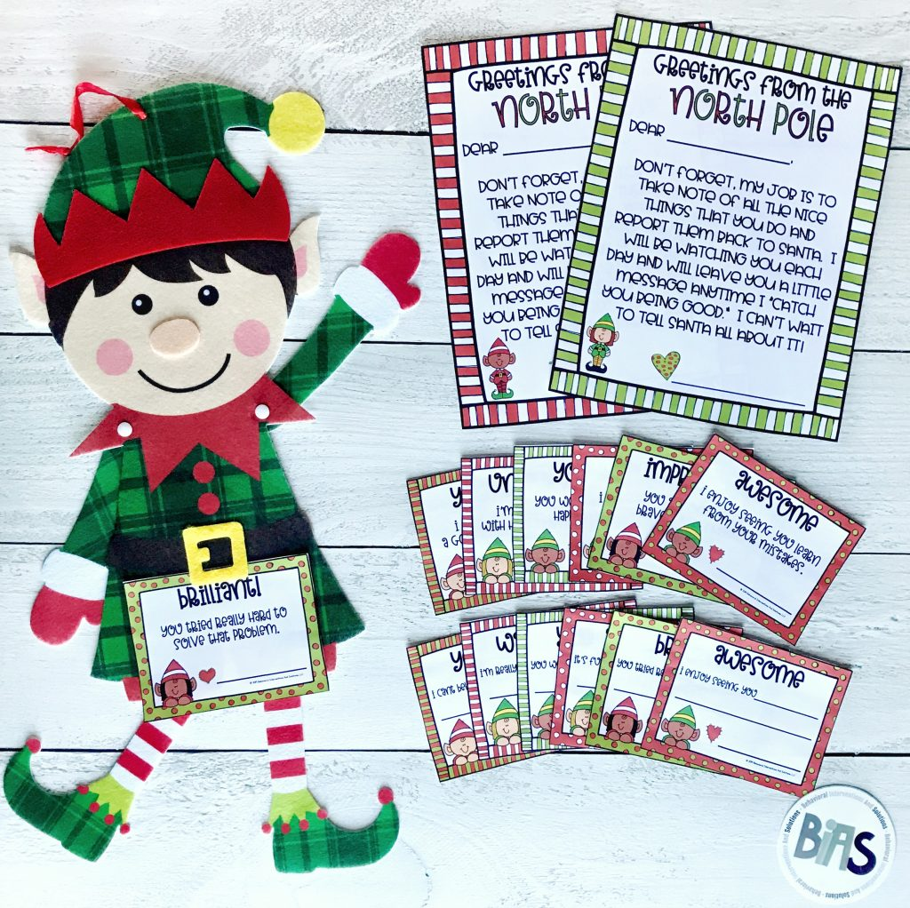 Elf on the shelf positive praise note cards