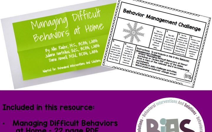 Managing Difficult Behaviors