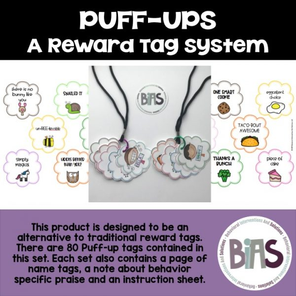 Puff-Ups Reward Tags