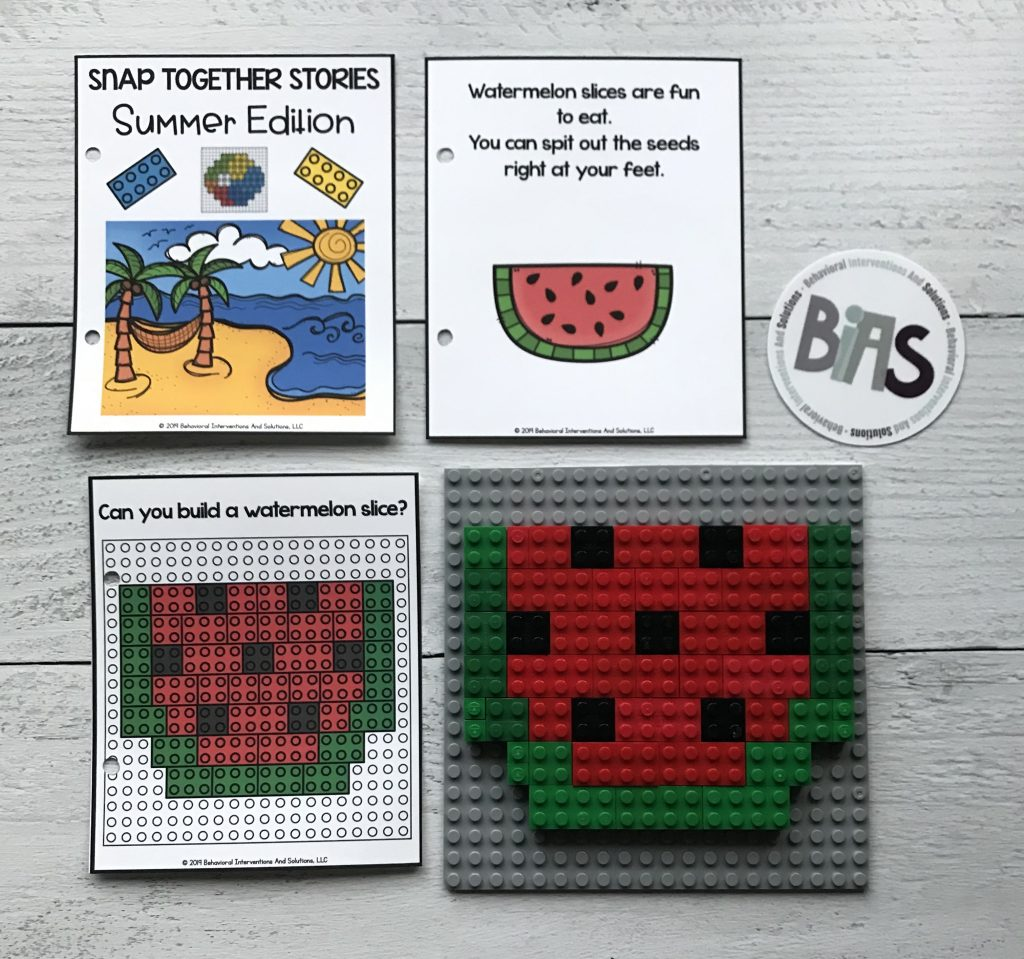 Snap Together Stories Summer Edition (LEGO/Building Brick Story Cards)