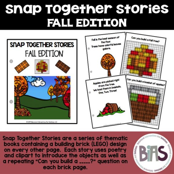 Snap Together Stories Fall Edition LEGO Building Brick Cards