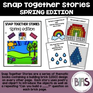 Snap Together Stories Spring Edition LEGO Building Brick Cards