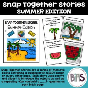 Snap Together Stories Summer Edition LEGO Building Brick Cards