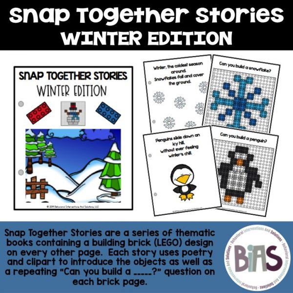 Snap Together Stories Winter Edition LEGO Building Brick Cards