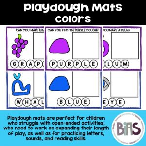 Playdough Mats Colors