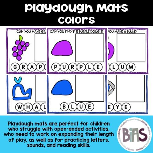 Playdough Mats Colors