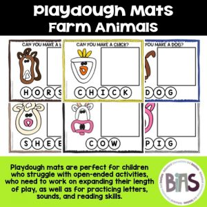 Playdough Mats Farm Animals