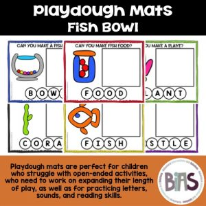 Playdough Mats Fish Bowl