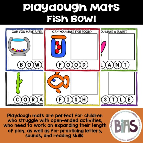 Playdough Mats Fish Bowl