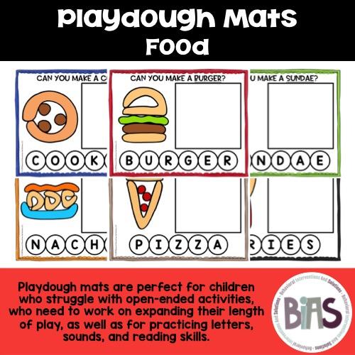 Playdough Mats Food