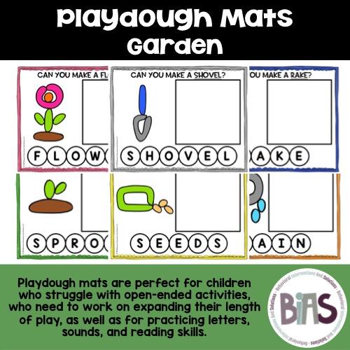 Playdough Mats Garden