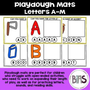 Playdough Letter Mats A-M