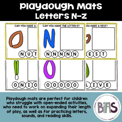 Playdough Mats Letter N-Z