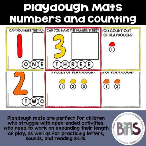 Playdough Mats Numbers and Counting
