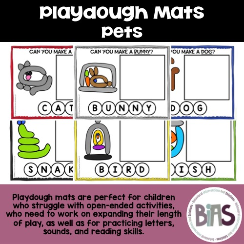 Playdough Mats Pets Theme