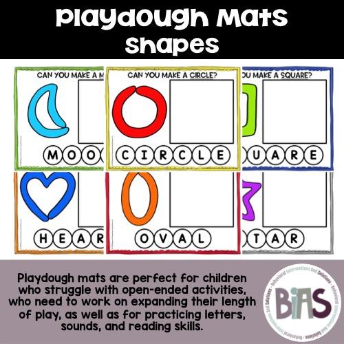 Playdough Mats Shapes Theme