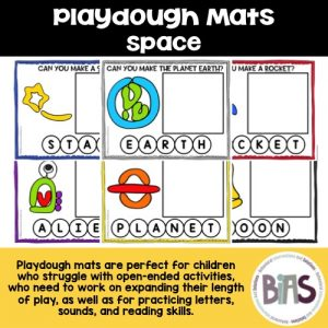 Playdough Mats Space Theme
