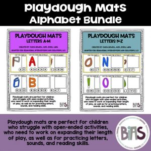 Playdough Mats Alphabet Bundle