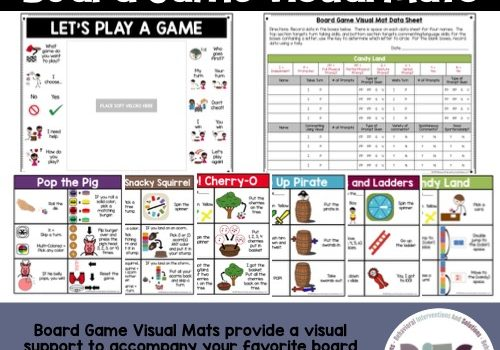 Early Learner Board Game Visual Mats