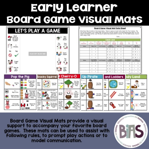 Early Learner Board Game Visual Mats