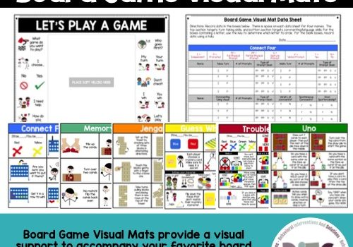 Advanced Learner Board Game Visual Mats