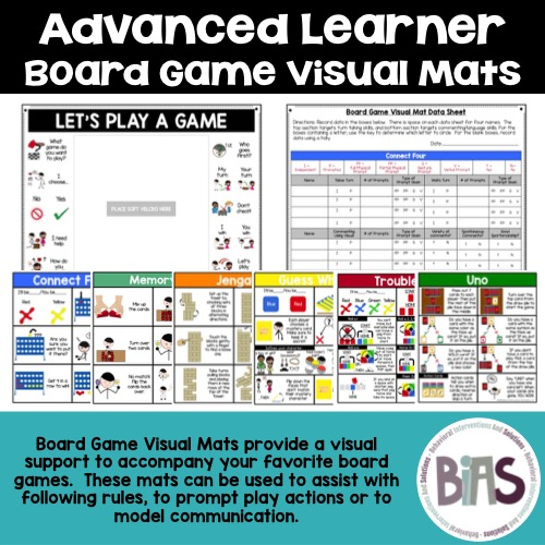Advanced Learner Board Game Visual Mats