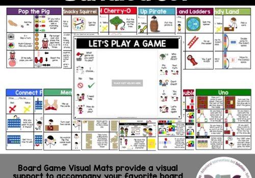 Board Game Visual Mats Bundled Set