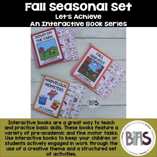 Interactive Books Fall Seasonal Bundle
