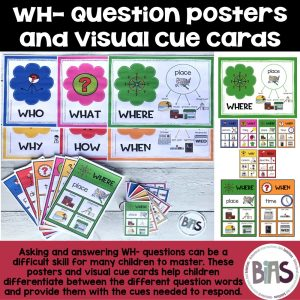 Wh Question Posters and Visual Cue Cards