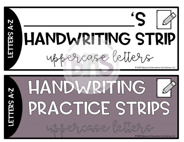 handwriting practice strips cover