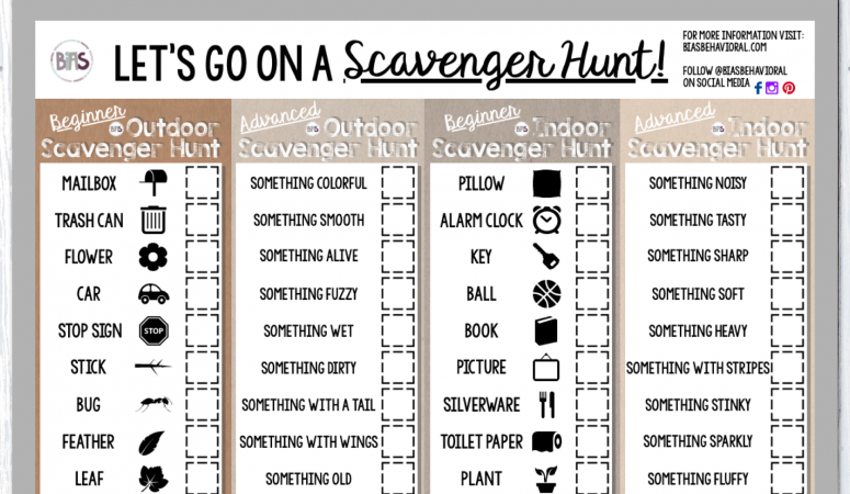 Indoor/Outdoor Scavenger Hunt
